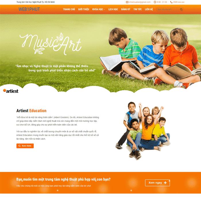 Mẫu Thiết kế Website Trường Học EDU 2 tại AZnet
