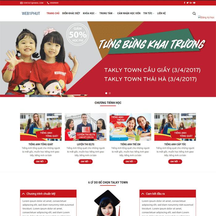 Mẫu Thiết Kế Website Trường Học EDU 4 tại AZnet