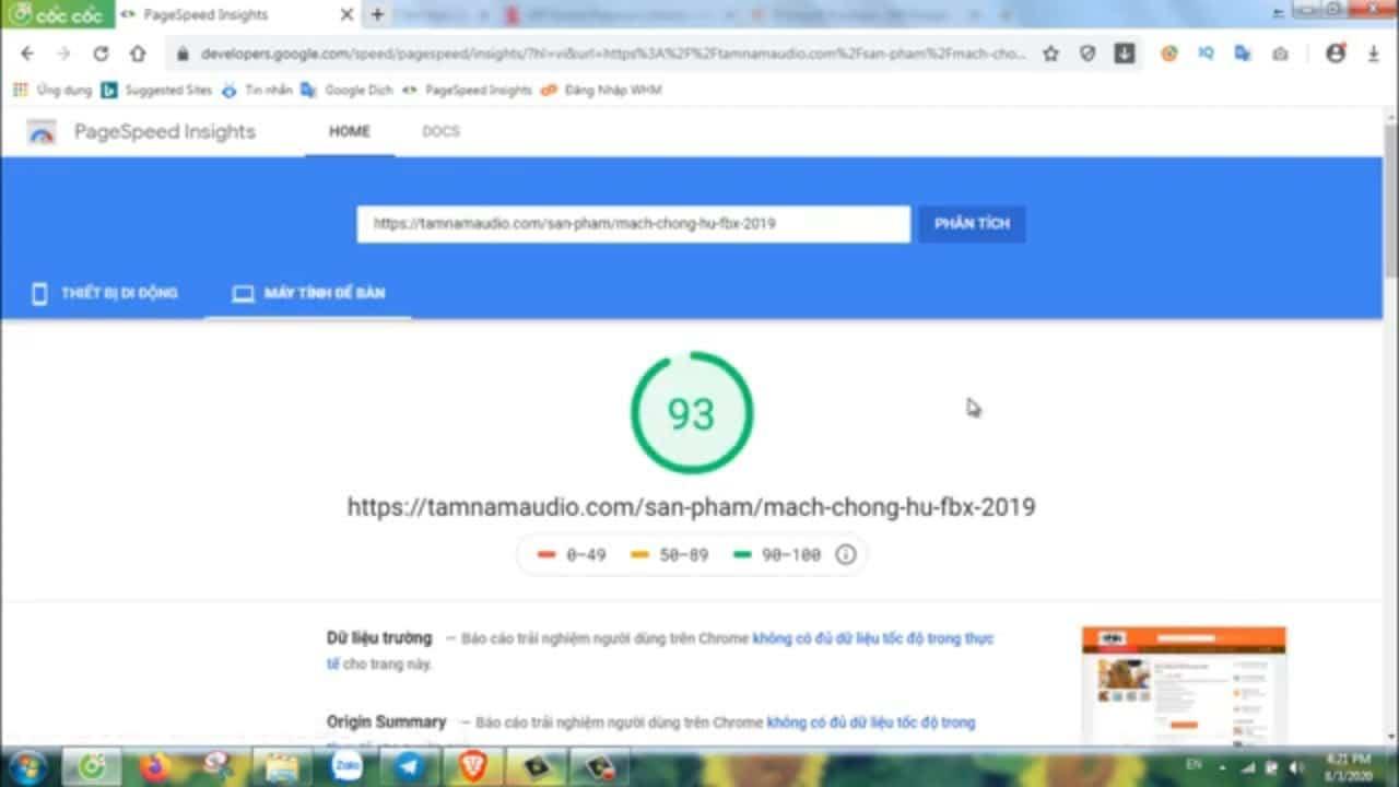Tăng tốc độ website Wordpress để tăng Điểm Chất Lượng QC Google