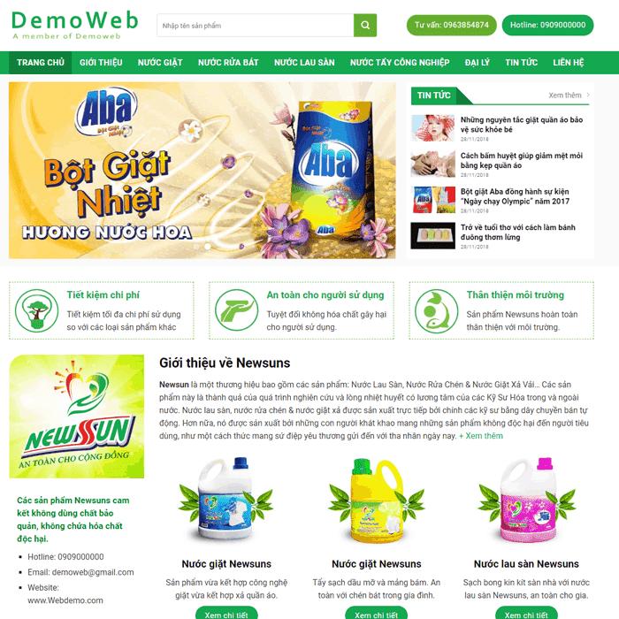 Website bán hàng bột giặt