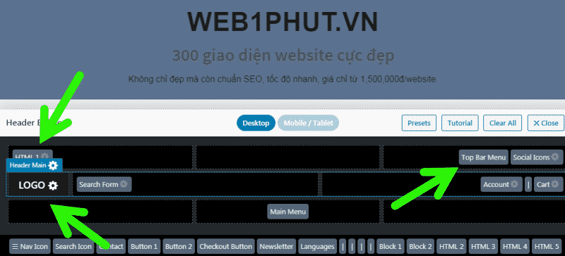 Cách sửa phần đầu website wordpress