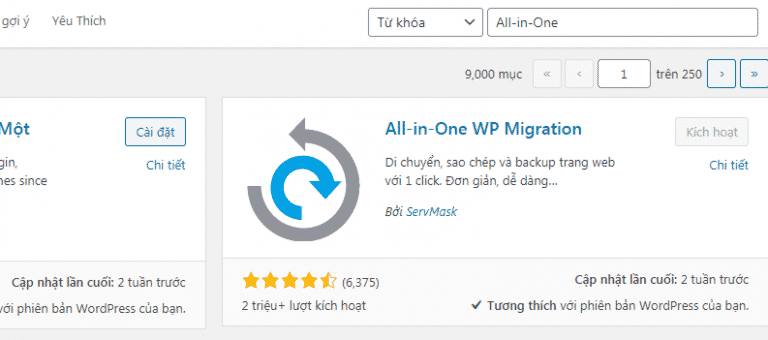 cai dat plugin all in on 1