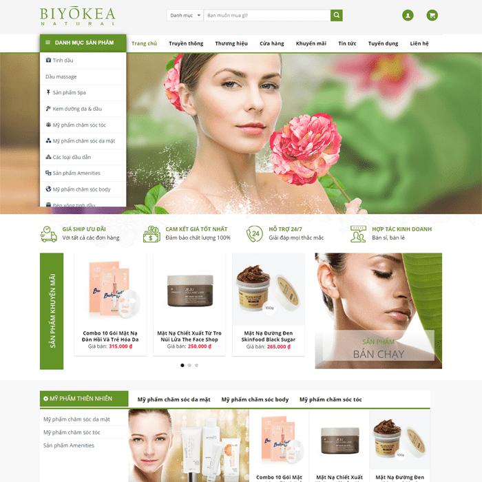 Website bán hàng mỹ phẩm 4
