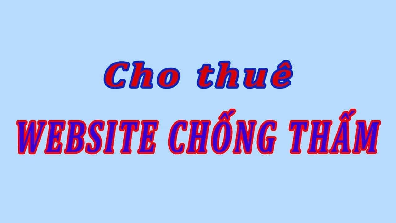 Cho thuê website dịch vụ chống thấm