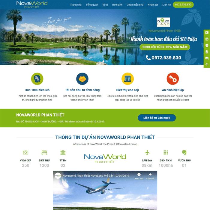 BĐS 14 – Giao diện website bất động sản Dự Án (Landing Page)