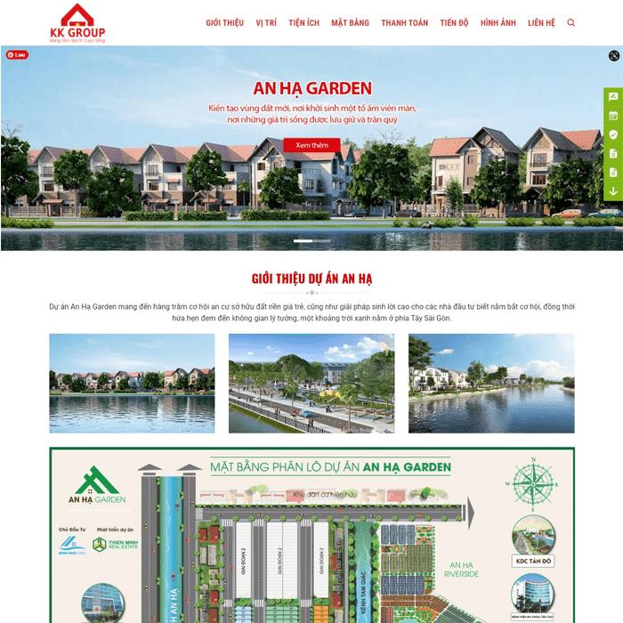 BĐS 17 – Giao diện bất động sản Dự Án