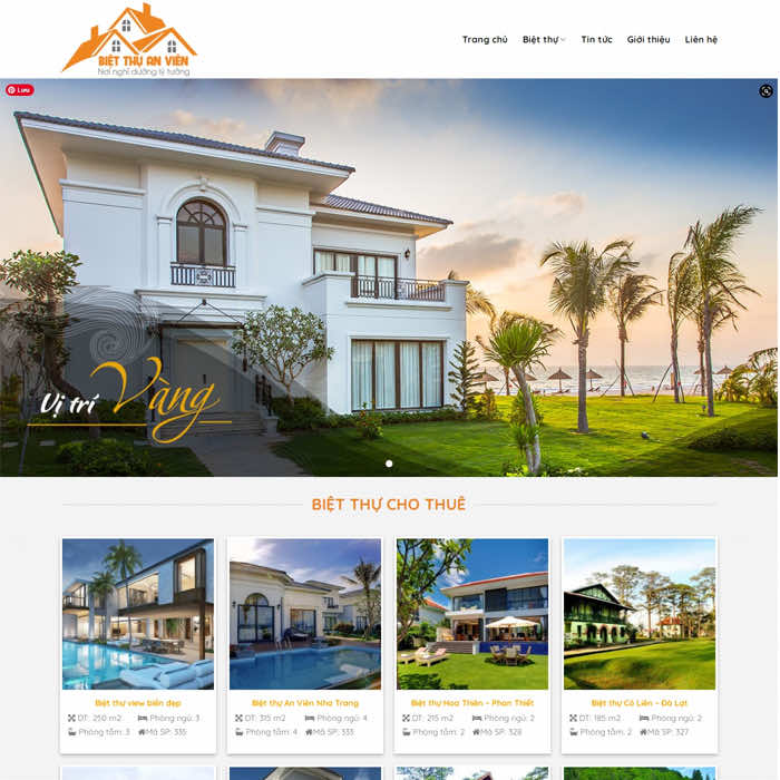 BĐS 20 – Website bán hoặc cho thuê Biệt Thự