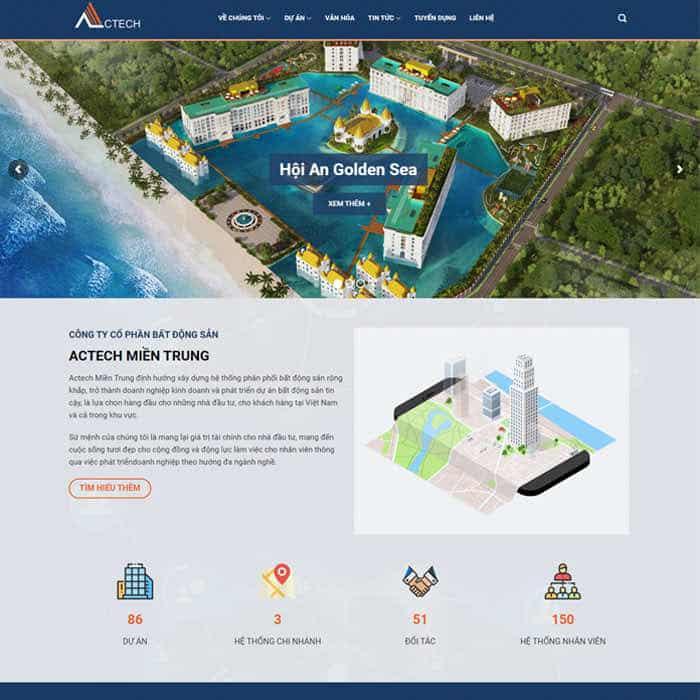BĐS 25 – Mẫu website Công ty bất động sản bán Nhiều Dự Án