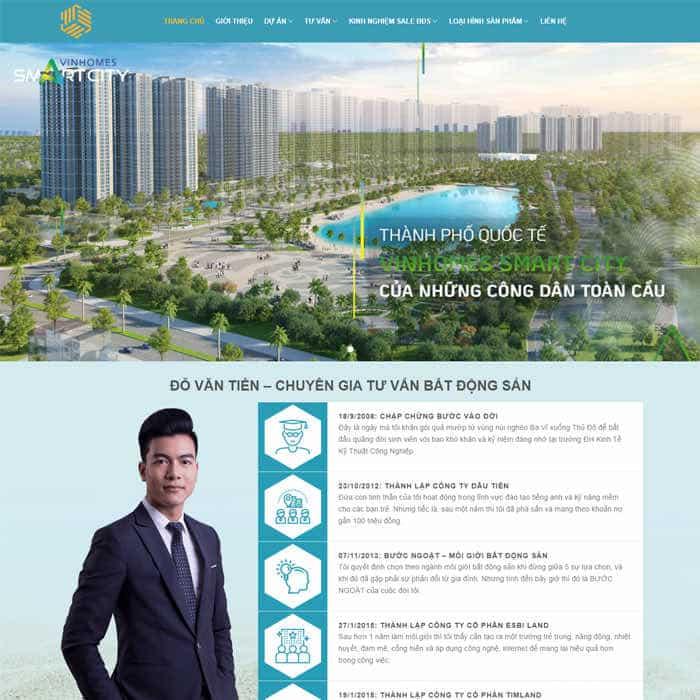 BĐS 27 – Mẫu website bất động sản dành cho Cá Nhân (có thể bán nhiều dự án)