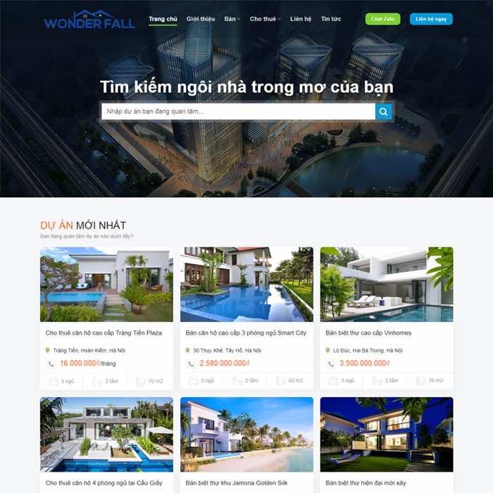 bds28 giao dien website bat dong san