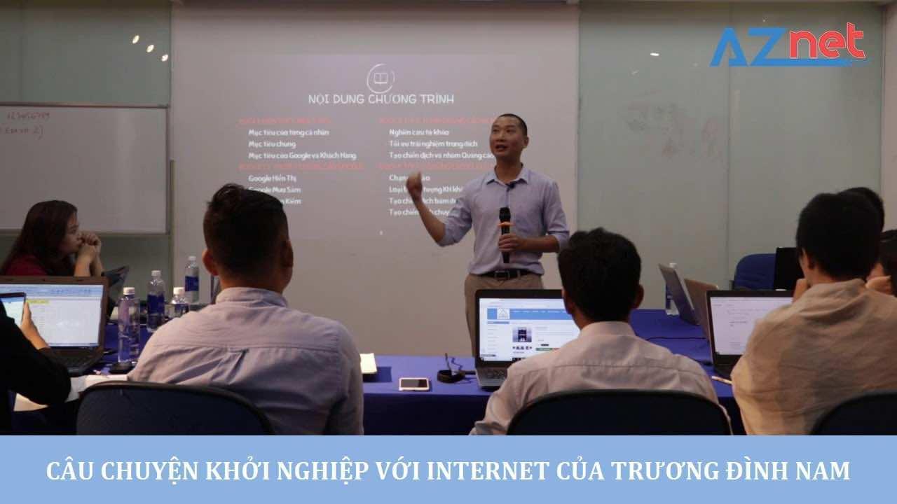 truong dinh nam da khoi nghiep tren internet nhu the nao