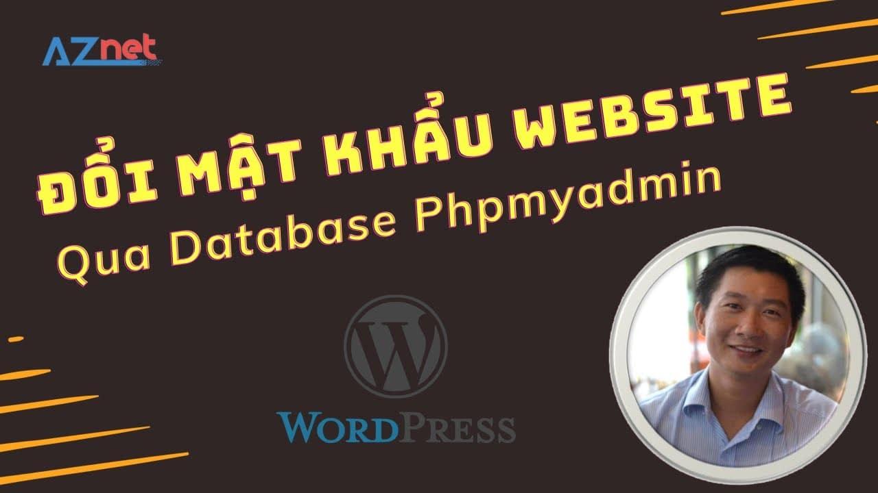 Huong Dan Doi Mat Khau Website Trong Database Phpmyadmin