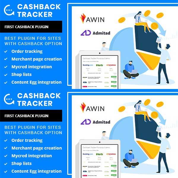 Cashback Tracker Wordpress Plugin
